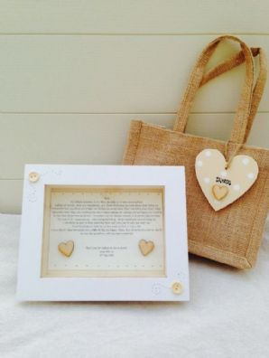 Shabby Personalised Chic Box Frame Gift Set Mother Of Bride Or Groom Wedding